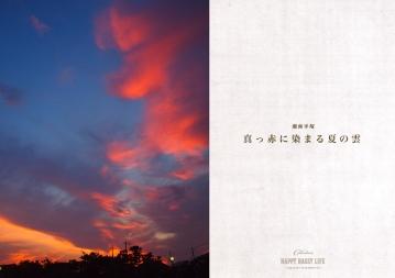 真っ赤に染まる夏の雲
