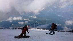 2018滑り納め初富士山
